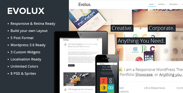 Evolux - Responsive Multi-Purpose Wordpress Theme - Business Corporate