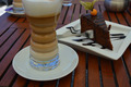 cafè latte with cake - PhotoDune Item for Sale