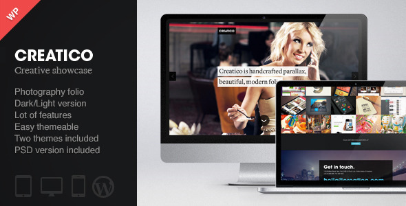 Creatico - Responsive One Page WordPress Theme - Portfolio Creative