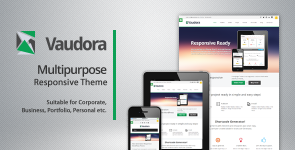 Vaudora Responsive WordPress Theme - Business Corporate