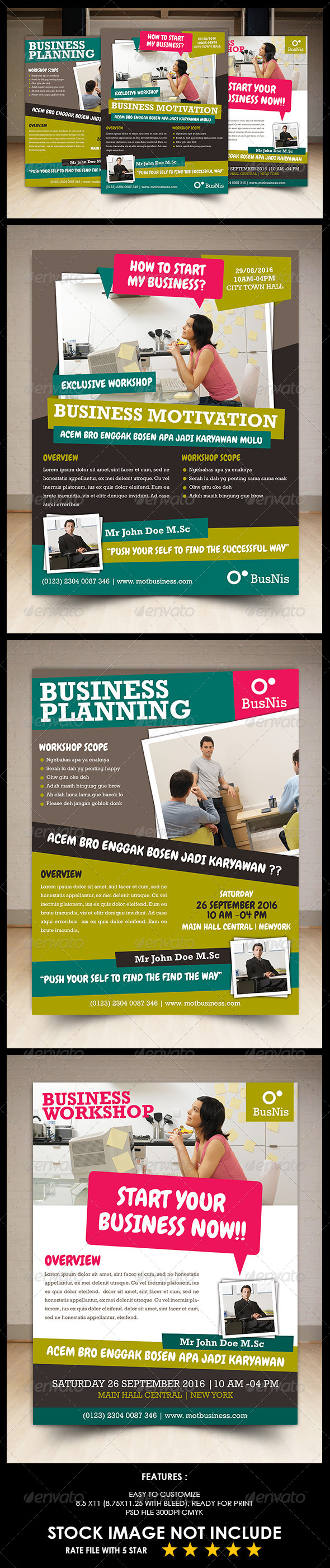 GraphicRiver Business Workshop Flyer 5405977