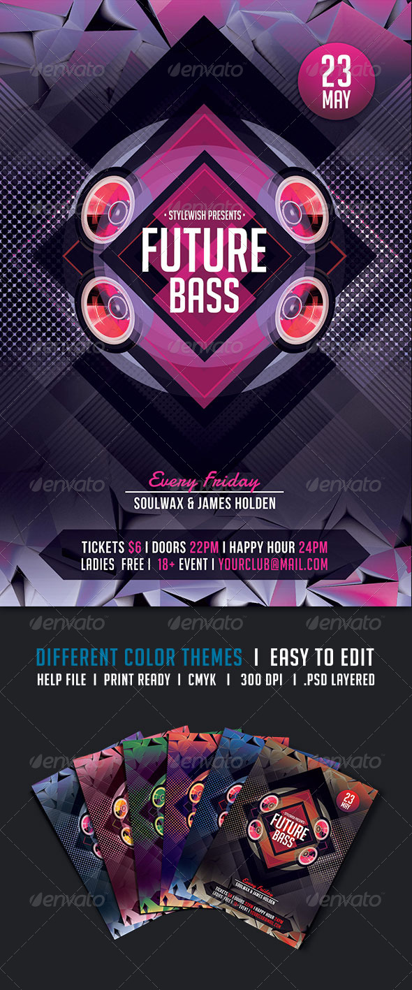 GraphicRiver Future Bass Flyer 5426495