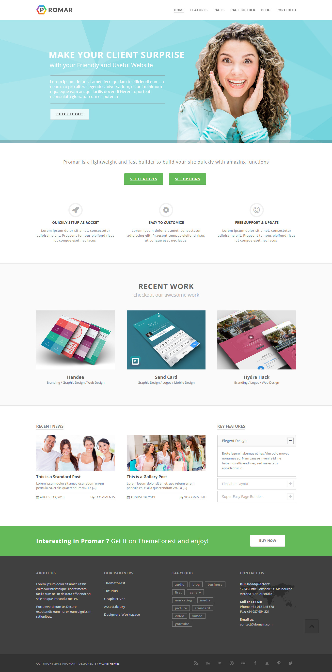 Promar - Responsive Multi Purpose Wordpress Theme