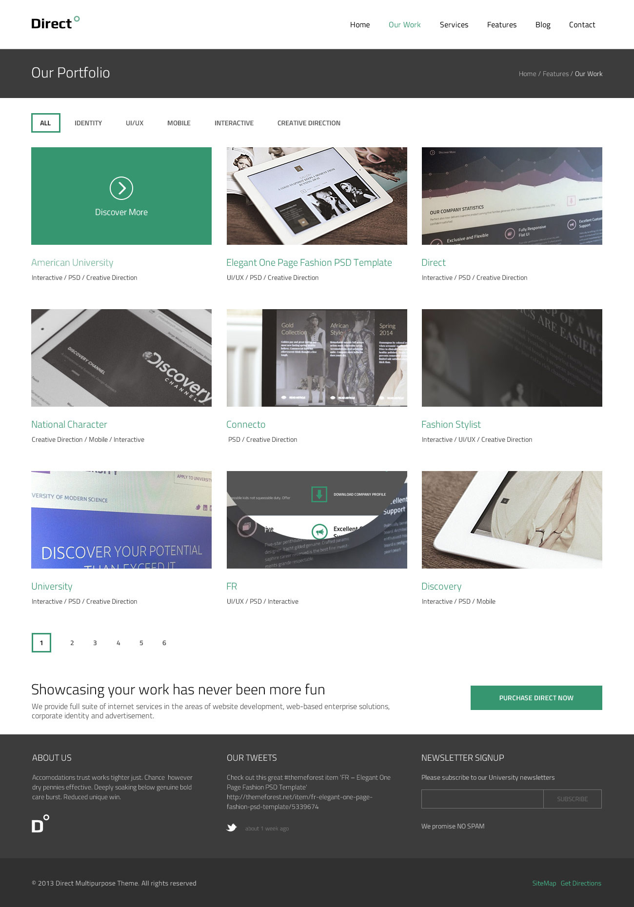 Direct Multi-purpose PSD Theme