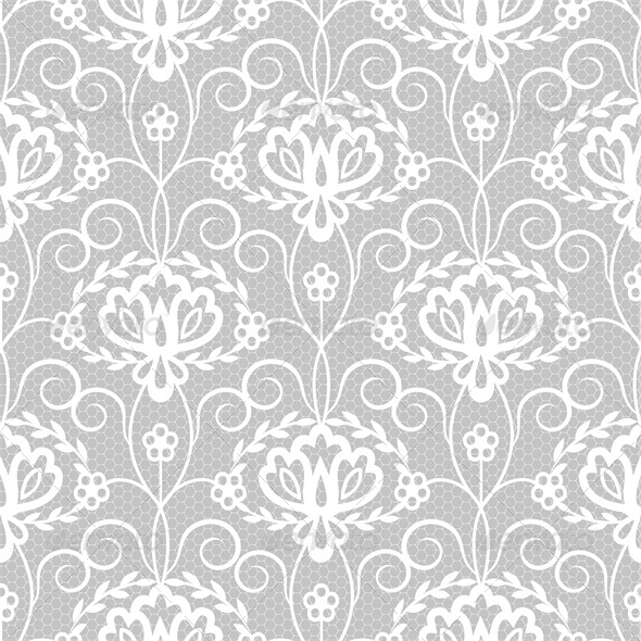 GraphicRiver Lace Floral Pattern 5427193