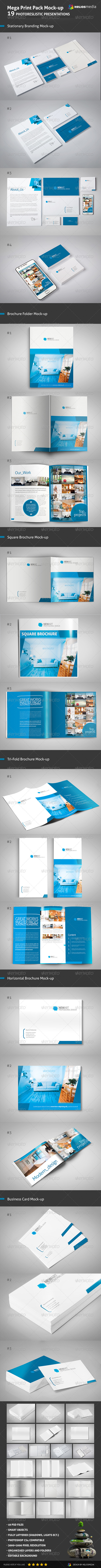 GraphicRiver Mega Print Pack Mock-up 5427392