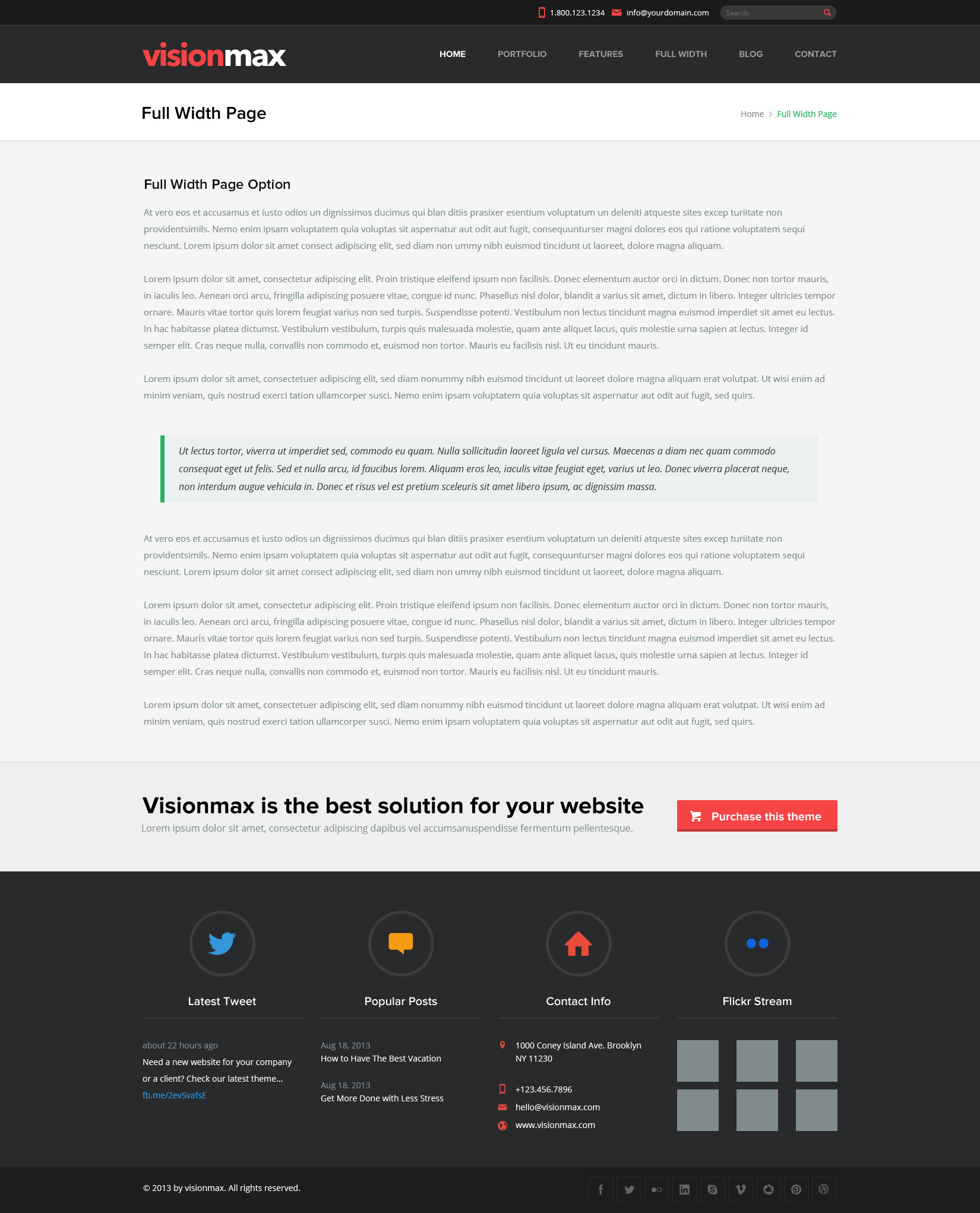 Visionmax - Multipurpose PSD Template