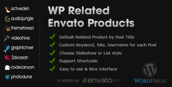 CodeCanyon WP Related Envato Products 5428786