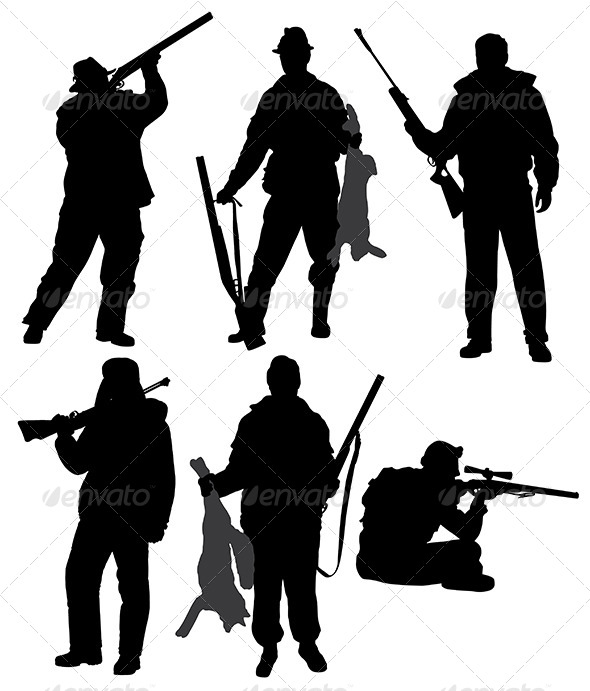 GraphicRiver Hunter Silhouette 5429278