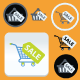 Ecommerce Shopping Cart and Basket Flat Icons Set - GraphicRiver Item for Sale