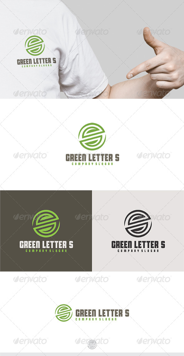 GraphicRiver Green Letter S Logo 5430277
