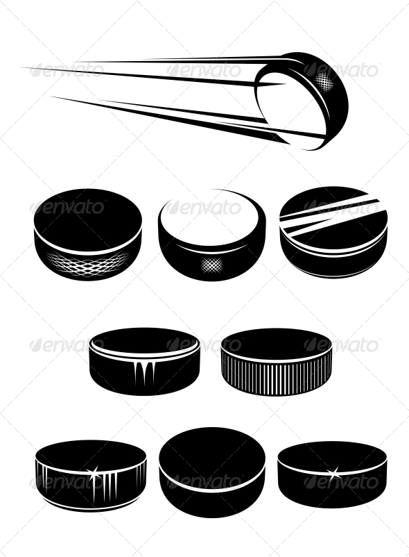GraphicRiver Ice Hockey Pucks 5430346