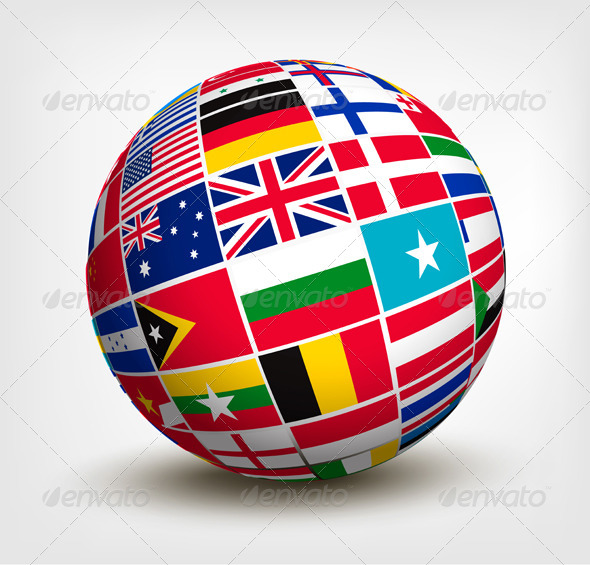 GraphicRiver Flags of the World in Globe 5430558