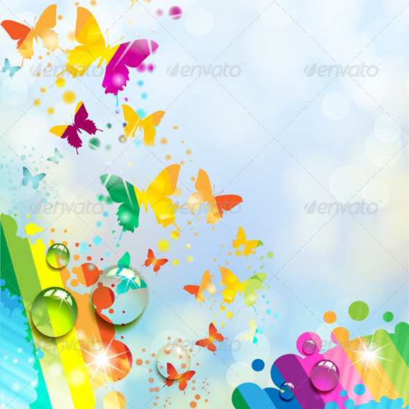 GraphicRiver Background with Butterfly 5430819