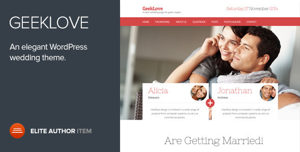 Image result for GeekLove - A Responsive WordPress Wedding Theme