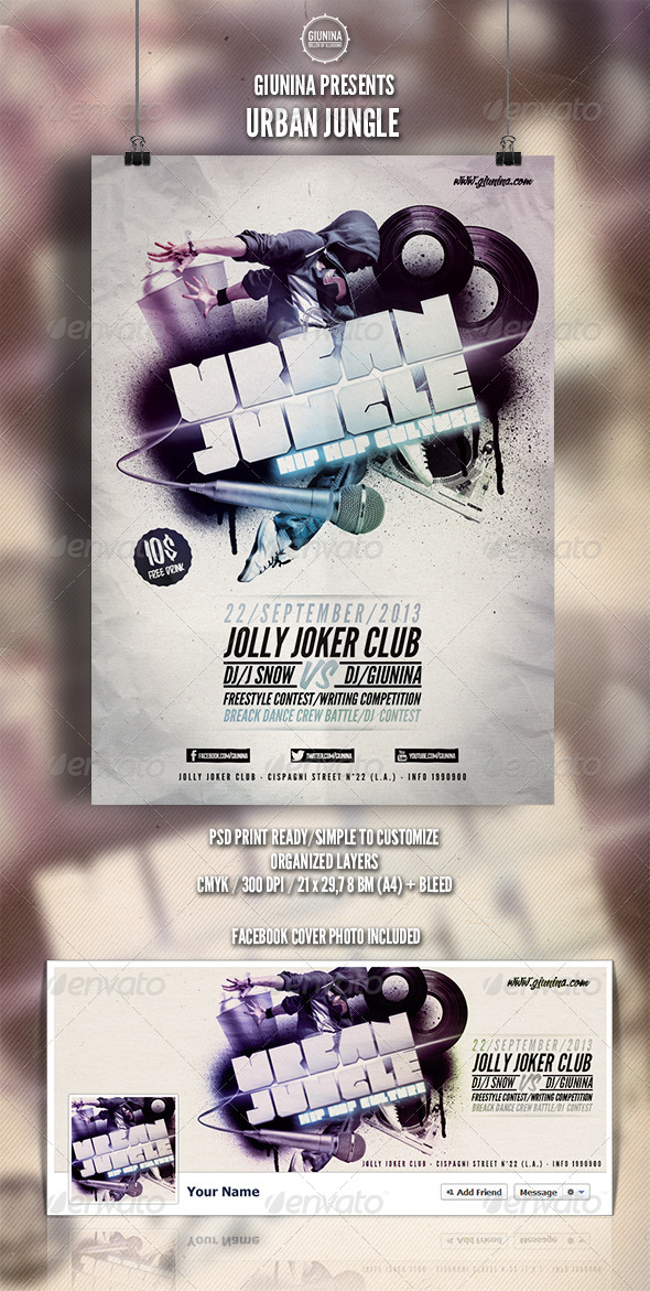 Urban Jungle Flyer/Poster - Events Flyers