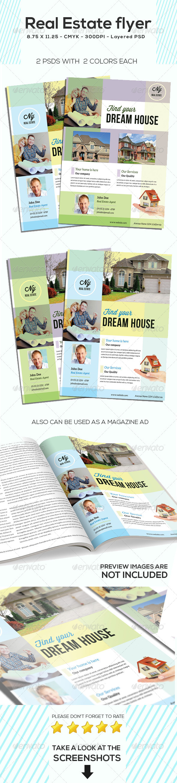 GraphicRiver Clean Real Estate Flyer 5434383