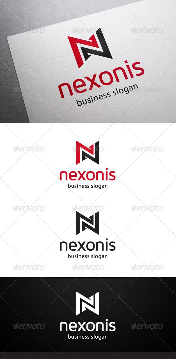 GraphicRiver Nexonis N Letter Logo 5434644