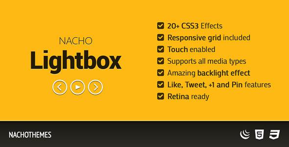 CodeCanyon NACHO Lightbox Flat responsive lightbox 5434882