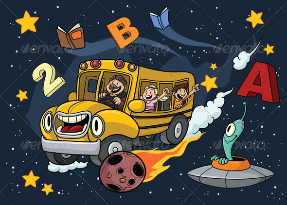 GraphicRiver Space School Bus 5434924