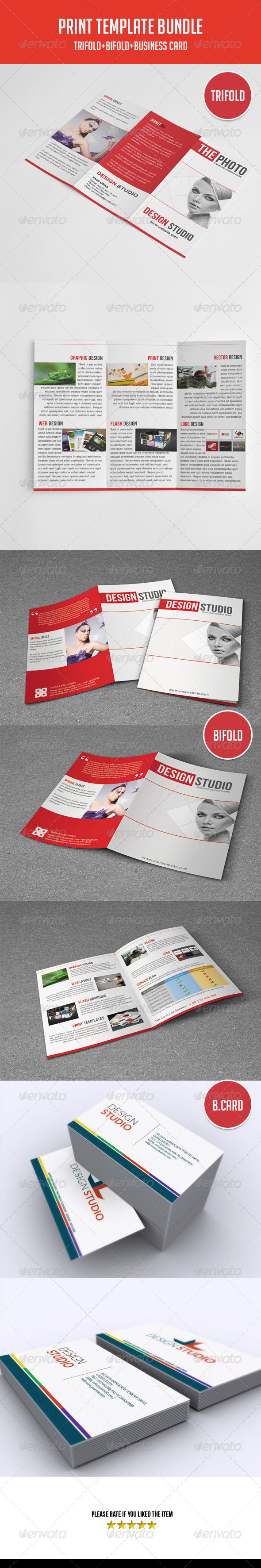 GraphicRiver Brochure&Business Card Bundle 5435111