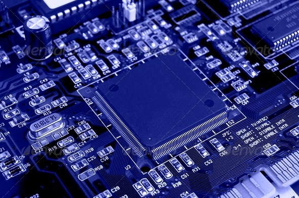 Computer Circuit Board - Stock Photo - Images