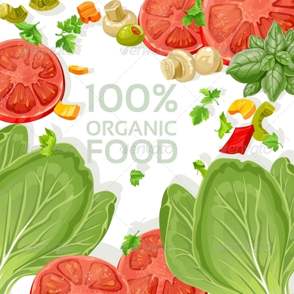 GraphicRiver Background of Fresh Organic Natural Vegetables 5435502