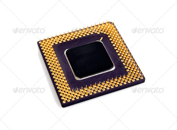 processor isolated on white - Stock Photo - Images
