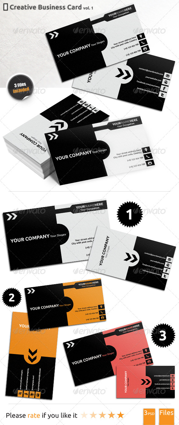 GraphicRiver Creative Business Card 1 5414827