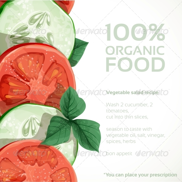 GraphicRiver Banner with Fresh Vegetables Tomatoes 5435561