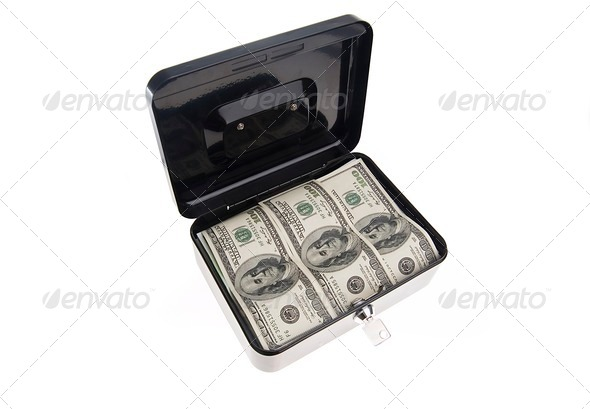 Money in cash box - Stock Photo - Images