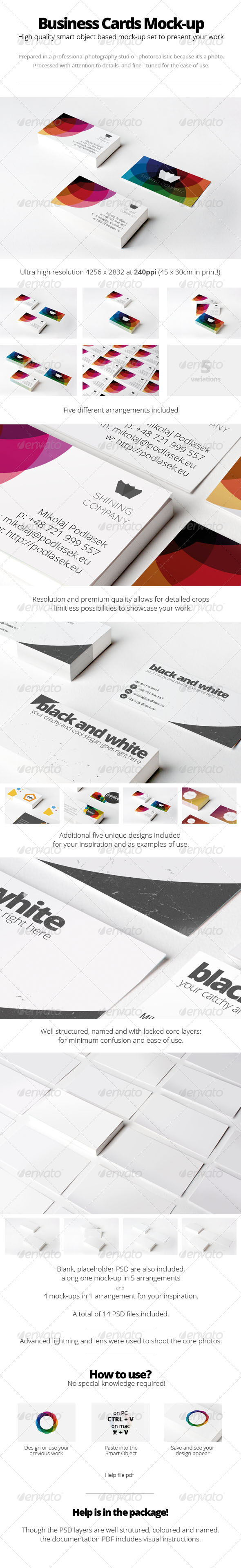 GraphicRiver Branding Business Cards Mock-Up 5435911