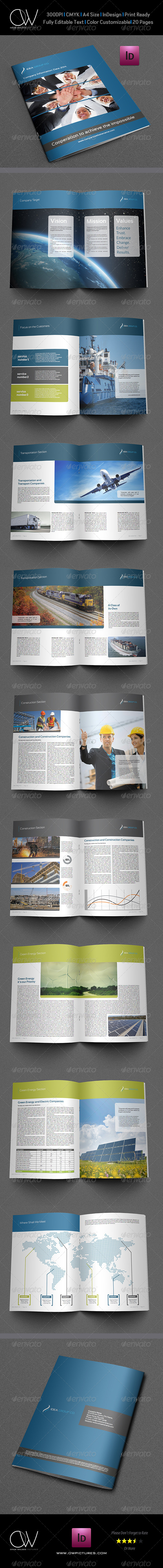 Corporate Brochure Template Vol3 - 20 Pages - Corporate Brochures