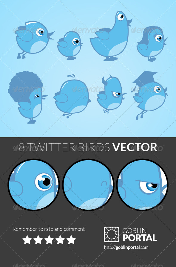 GraphicRiver Twitter Birds 5437268