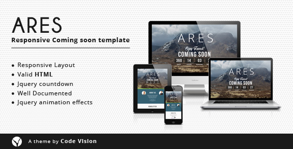 Ares - Coming Soon Template