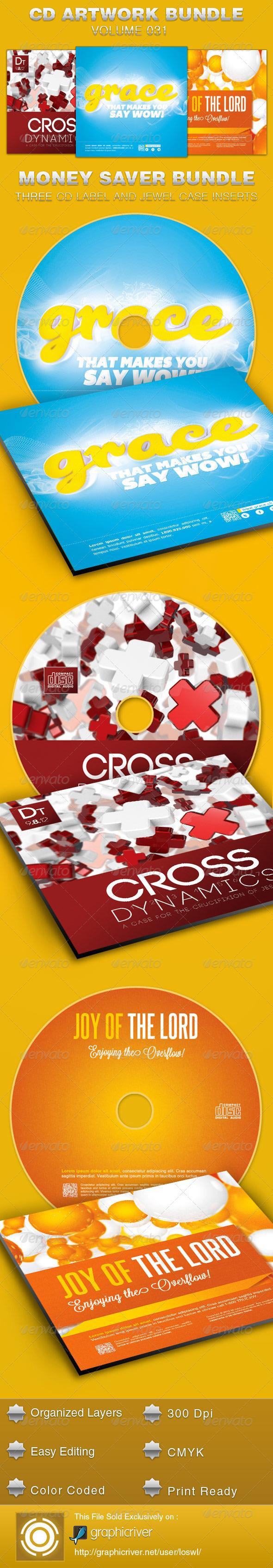 GraphicRiver CD Cover Artwork Template Bundle-Vol 031 5437808