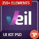 Veil - Uber Premium Web UI Kit and Web Elements - GraphicRiver Item for Sale