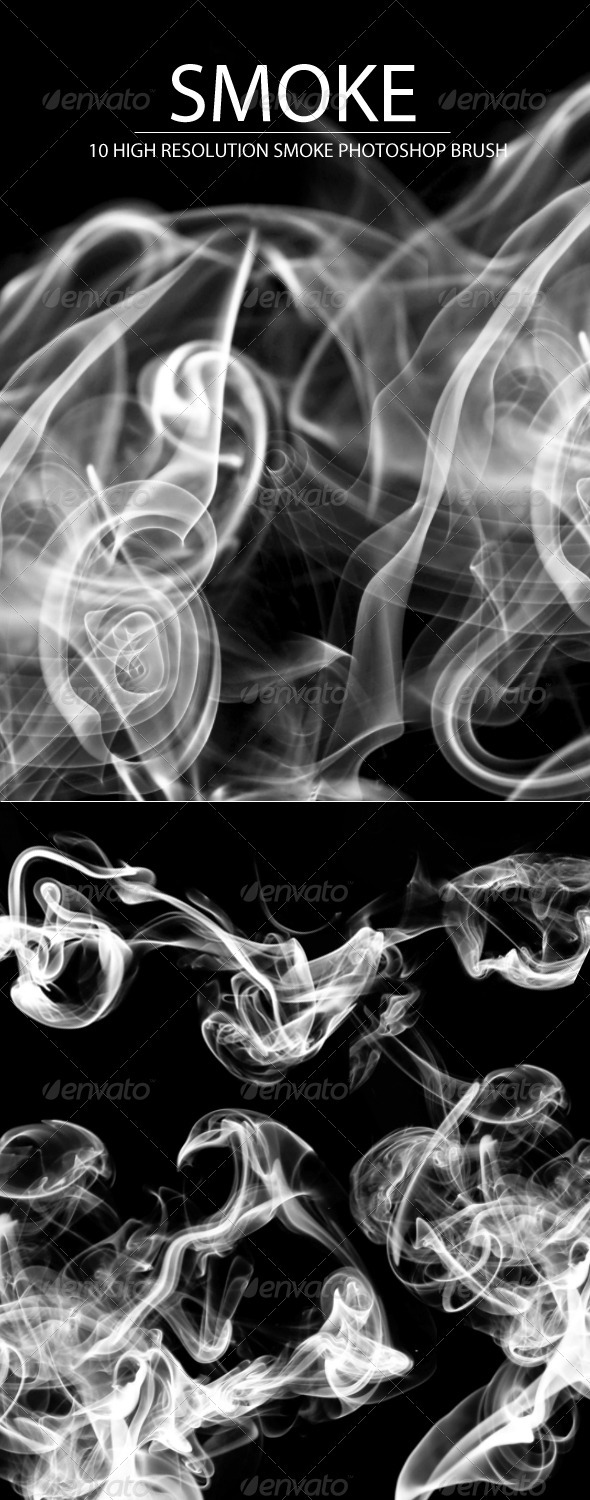 Realistic Smoke Photoshop Brushes - Brushes Photoshop
