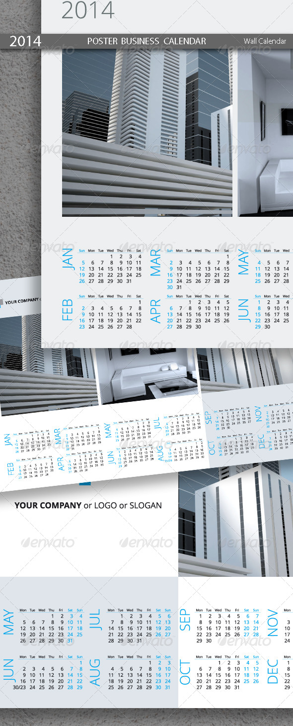 GraphicRiver Poster Business Calendar Template 2014 5439218