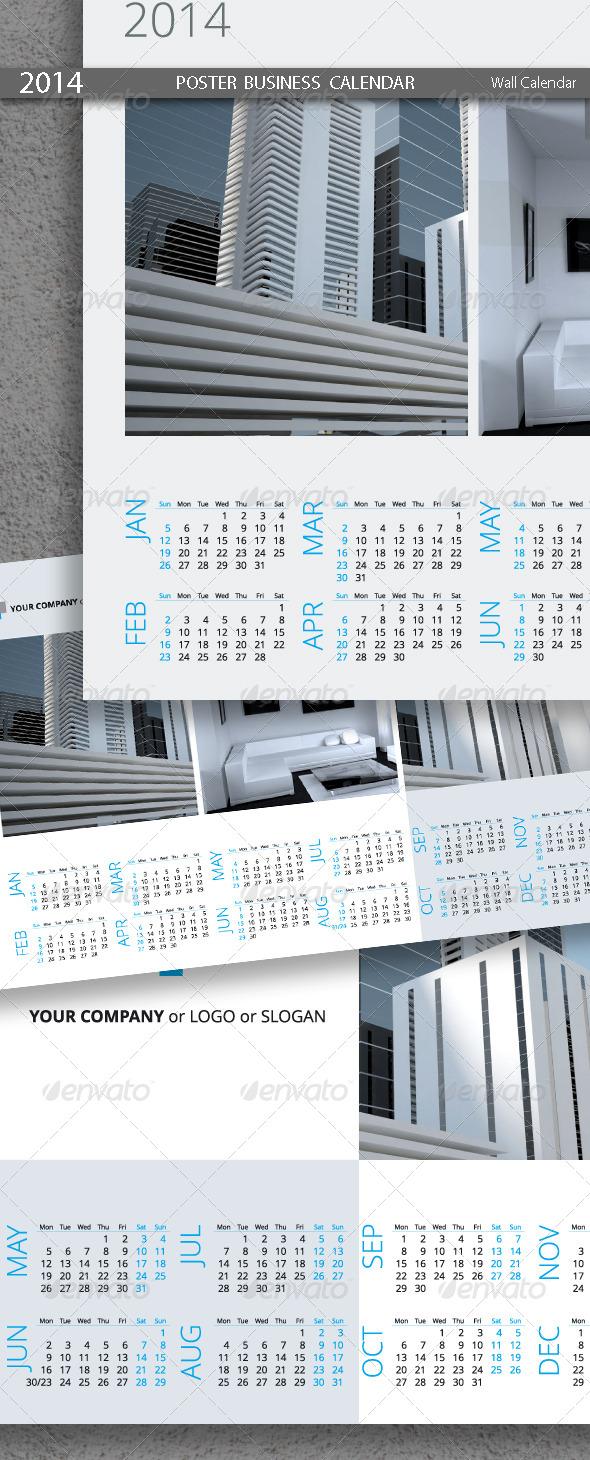 GraphicRiver Poster Business Calendar Template 2014 5439218