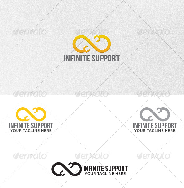 GraphicRiver Infinite Support Logo Template 5443554
