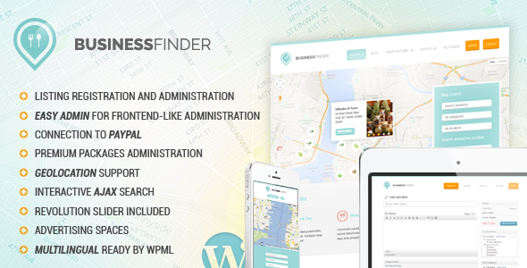 ThemeForest Business Finder Directory Listing WordPress Theme 5443578