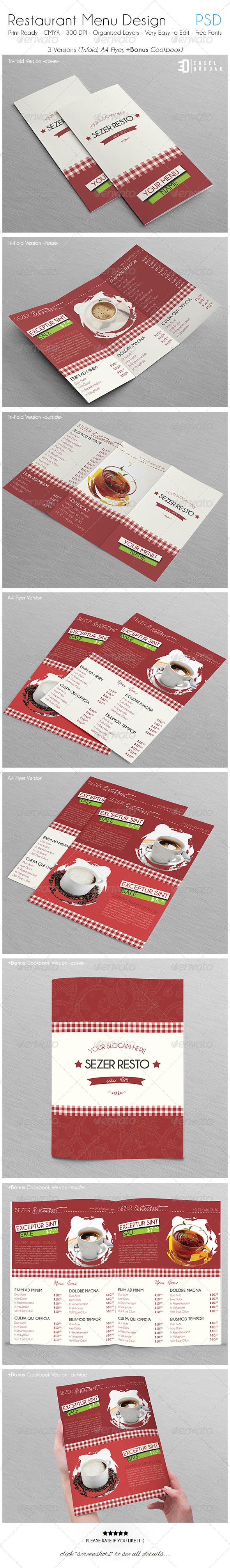 GraphicRiver Restaurant Menu Design 5444132