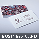 Colored Diamond Business Card - GraphicRiver Item for Sale