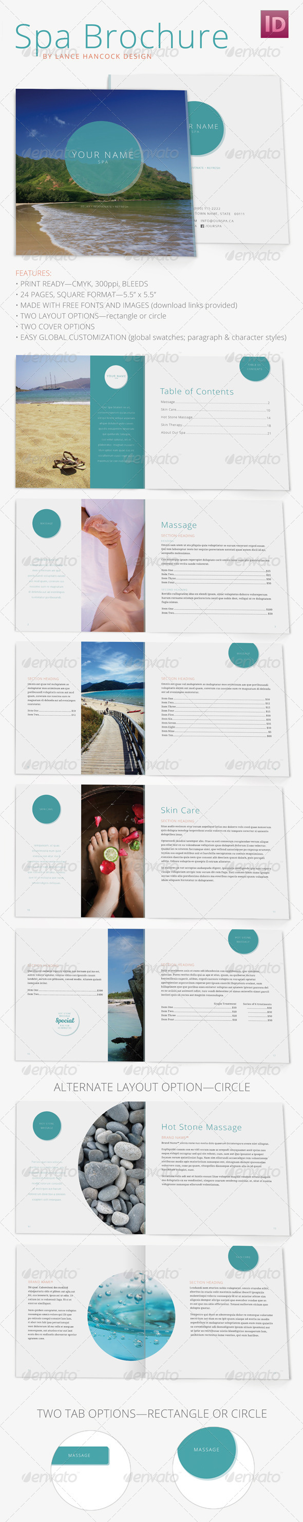 GraphicRiver Square Spa Brochure 5445640