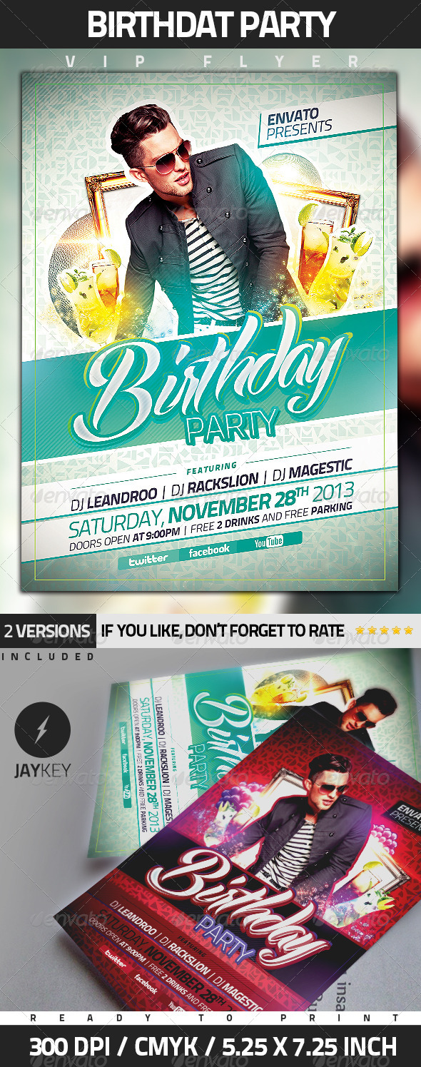 GraphicRiver Birthday Party Flyer 5445962
