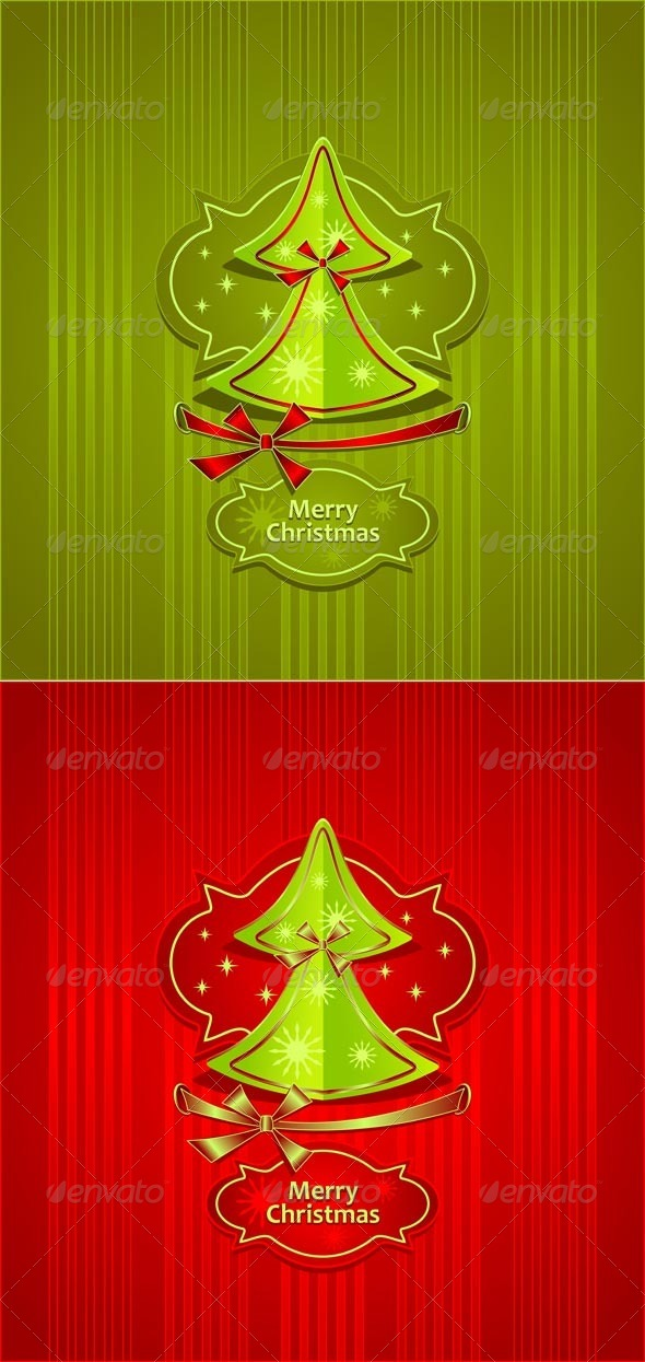 GraphicRiver Christmas Tree Creative Post Card 5447222