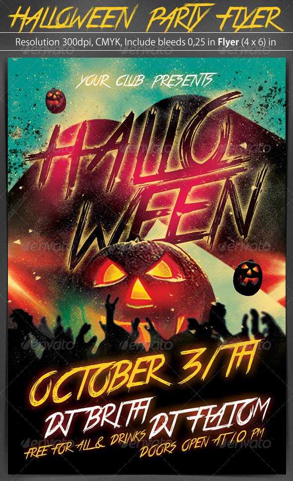 GraphicRiver Halloween Party Flyer Template 5447300