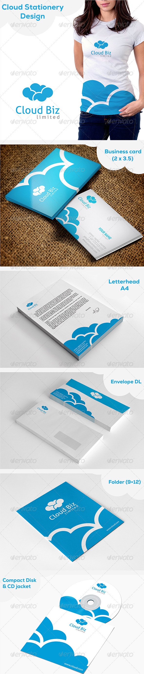 GraphicRiver Cloud Stationery 5366117
