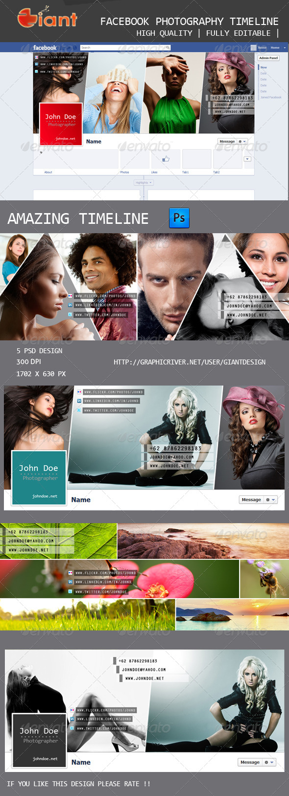 GraphicRiver Facebook Photography Timeline 5432182